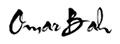 Omar Bah signature