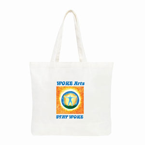 Plain White Tote bag Stay WOKE 300x300 1 - Shop