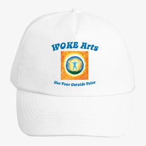 Printed Hat White Frontside Use Your Outside Voice - Printed Hat_White_Frontside_Use Your Outside Voice