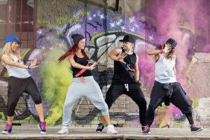 street dancing troupe